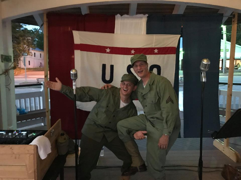 SPAM Time Vincent Bubba Turner and Vince SPAM Turner hamming it up at 2017 USO Night.