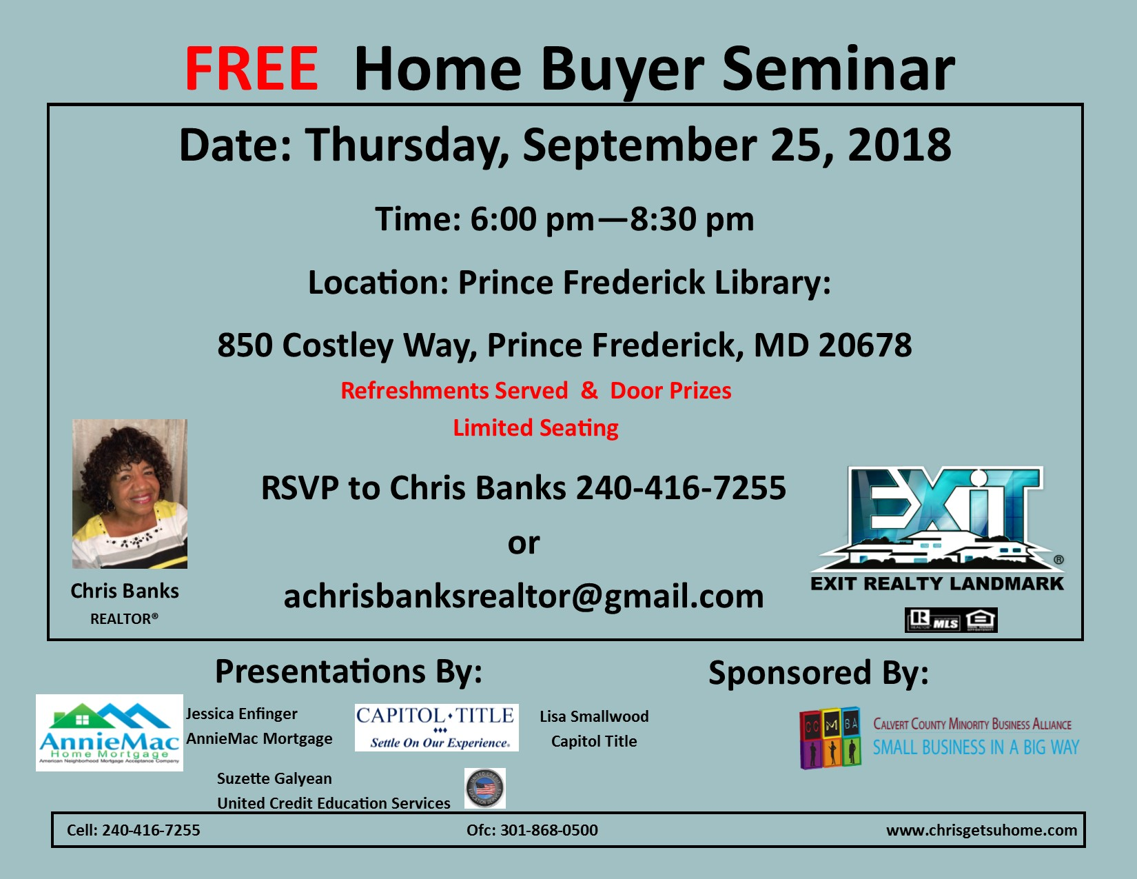 Home Buyer Seminar with Chris Banks