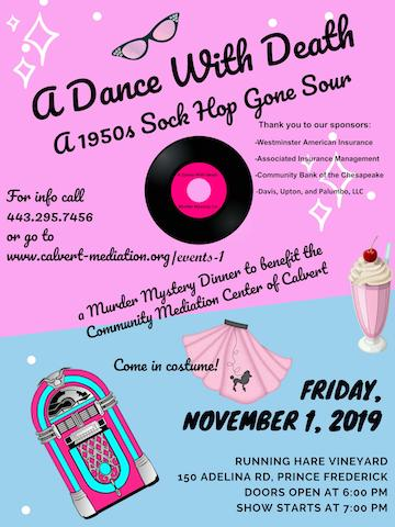 A Dance with Death. November 1, 2019 - Murder Mystery Dinner Fundraiser