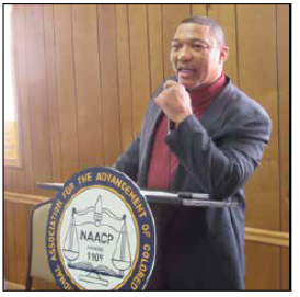 President Bryant Parker at Calvert NAACP Breakfast